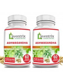 Ashwagandha Pure Herbs 2 Bottle