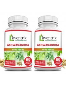 Ashwagandha Pure Herbs 2 Bottle